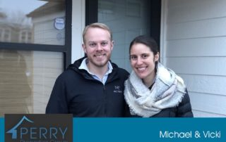 Happy home owners, Michael and Vicki