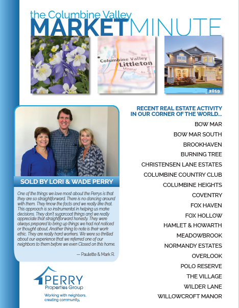 Click to view PDF version of the August Columbine Valley Market Minute