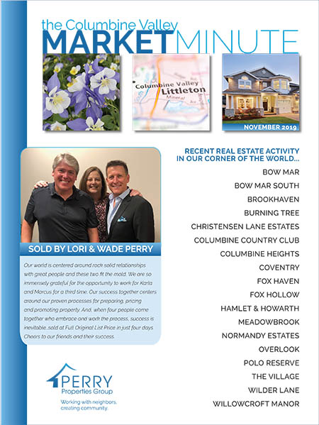 Click to view PDF version of the November Columbine Valley Market Minute