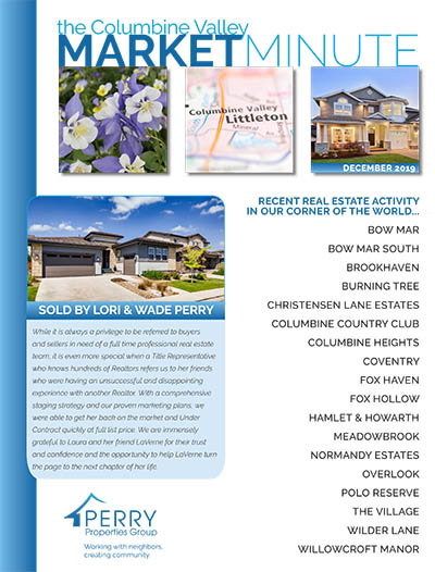 Click to view PDF version of the December Columbine Valley Market Minute