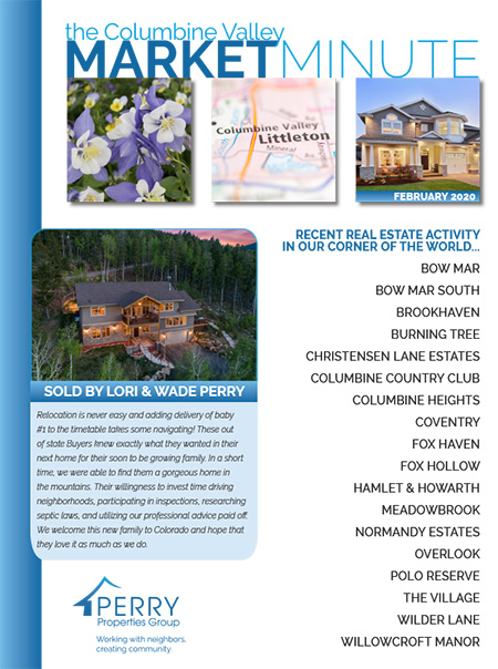 Click to view PDF version of the March Columbine Valley Market Minute