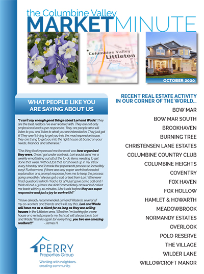 Click to view PDF version of the October Columbine Valley Market Minute