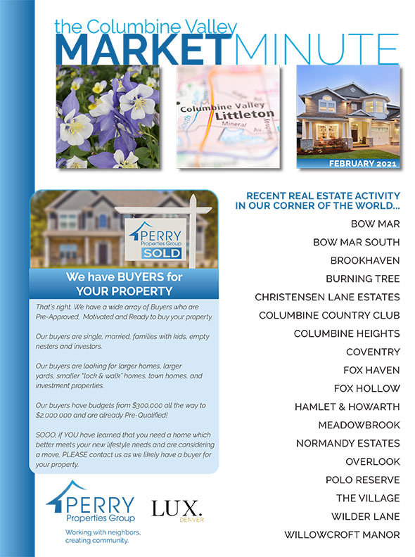 Click to view PDF version of the February Columbine Valley Market Minute