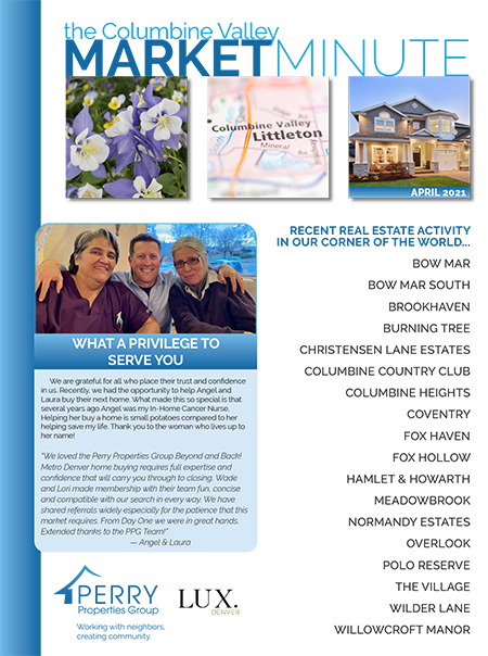 Click to view PDF version of the April Columbine Valley Market Minute