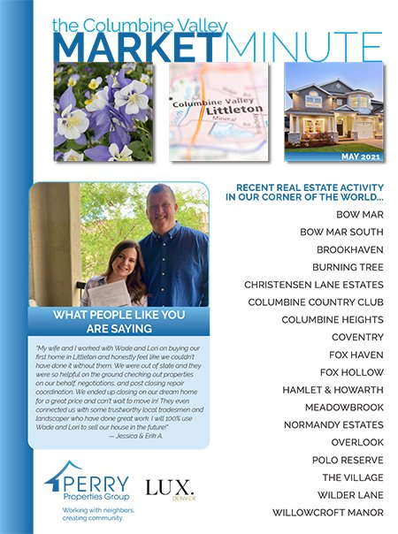 Click to view PDF version of the May Columbine Valley Market Minute